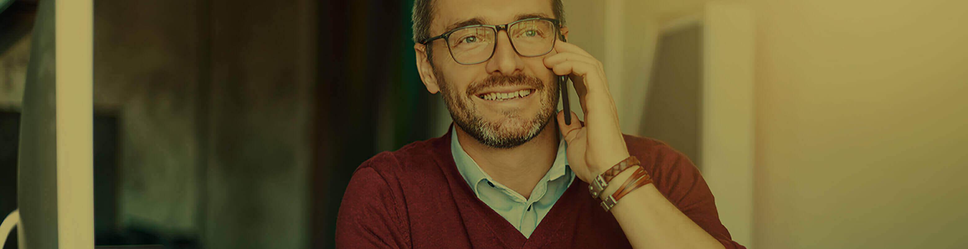 man in glasses in Fort Smith Arkansas