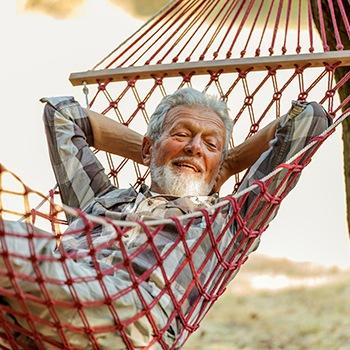 older man reclining